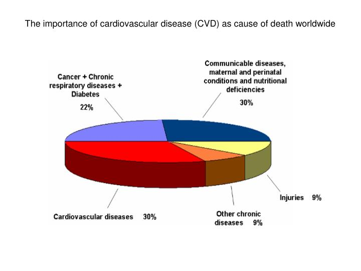 The importance of cardiovascular disease (CVD) as cause of death worldwide