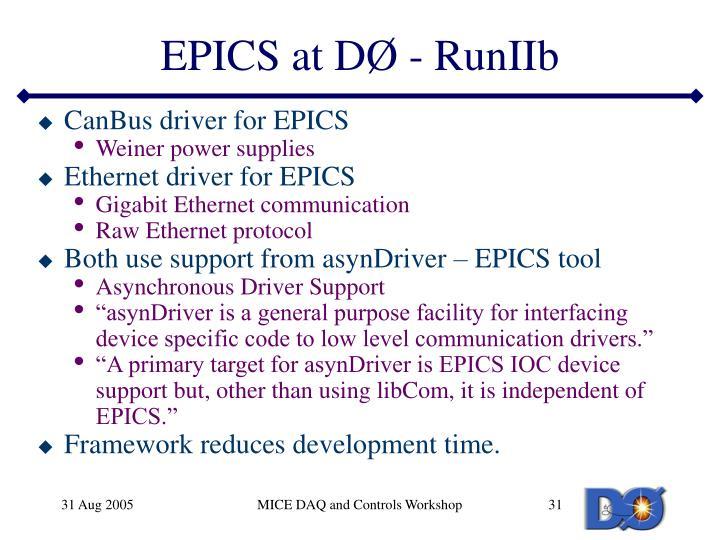 EPICS at D