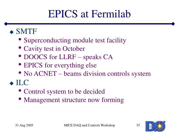 EPICS at Fermilab