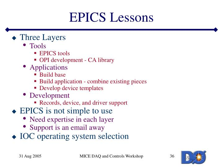 EPICS Lessons