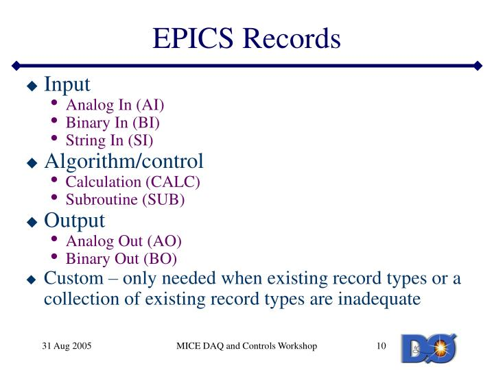 EPICS Records