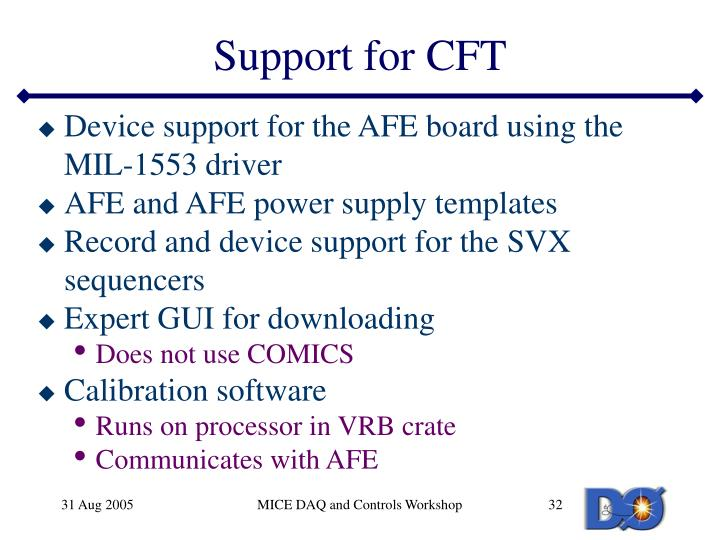Support for CFT