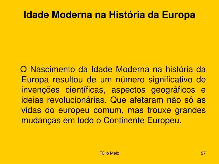 Idade Moderna na História da Europa
