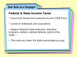 federal state income taxes