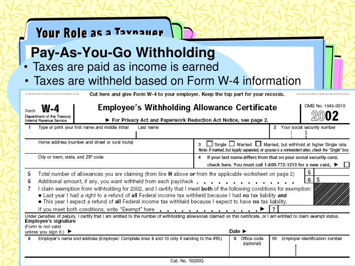 Pay-As-You-Go Withholding