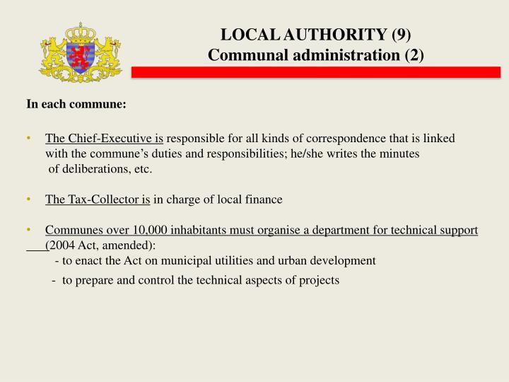 LOCAL AUTHORITY (9)