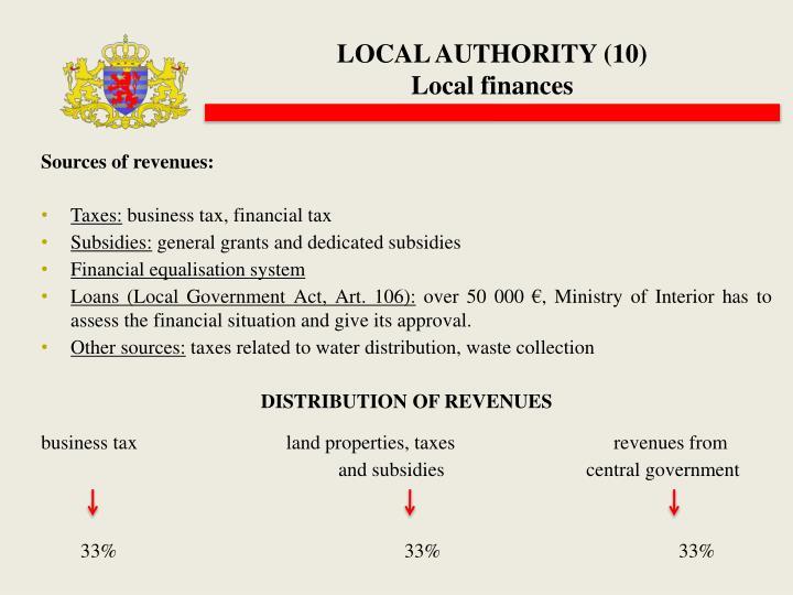 LOCAL AUTHORITY (10)