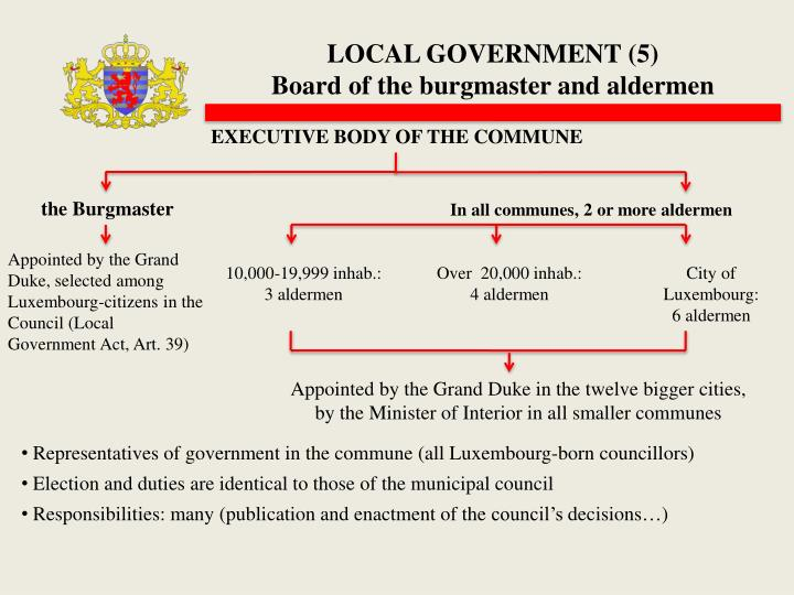 LOCAL GOVERNMENT (5)
