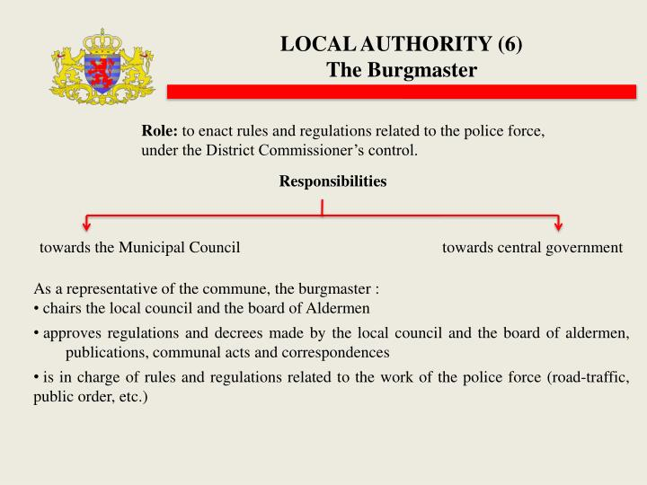 LOCAL AUTHORITY (6)