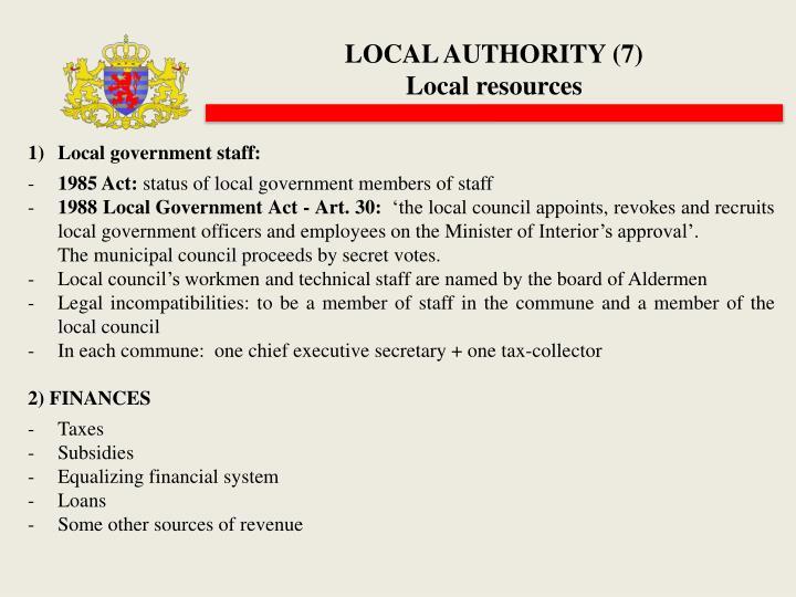 LOCAL AUTHORITY (7)
