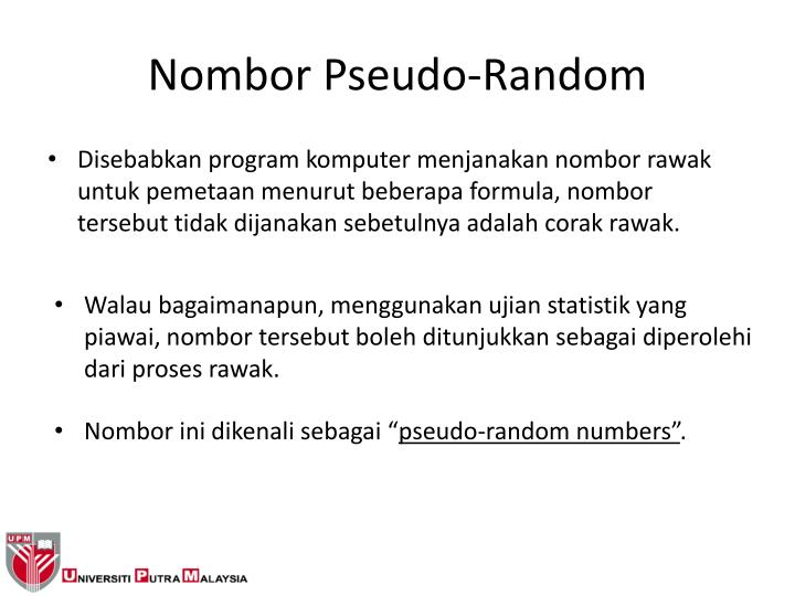 Nombor Pseudo-Random