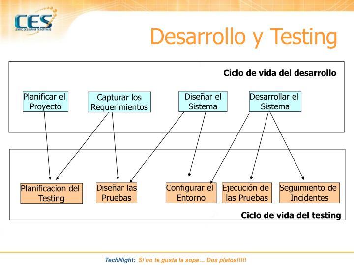 Desarrollo y Testing