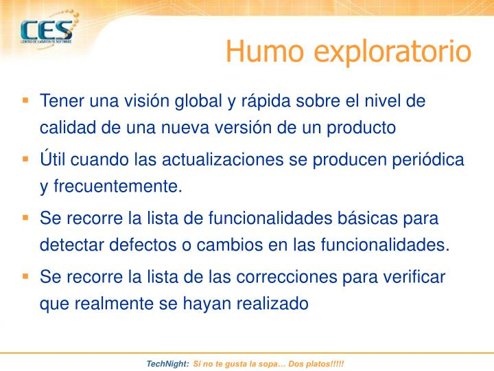 Humo exploratorio