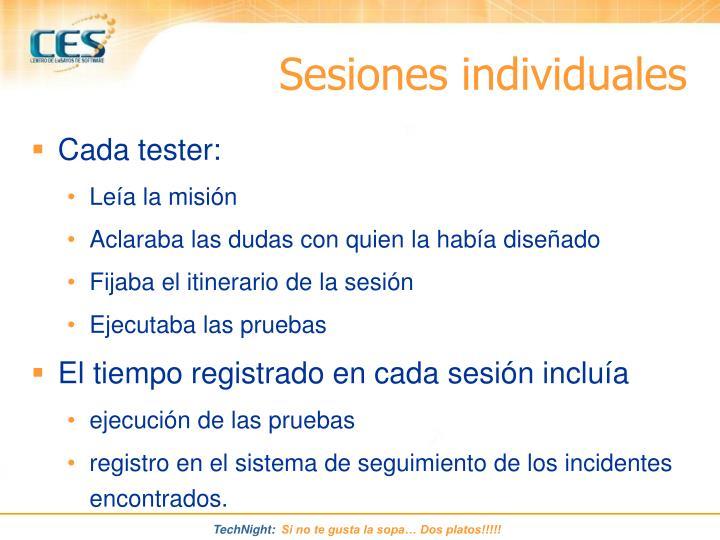 Sesiones individuales