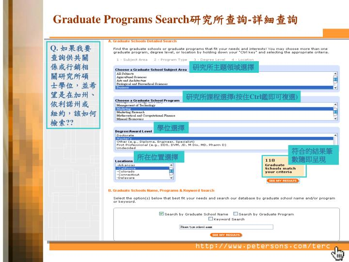 Graduate Programs Search