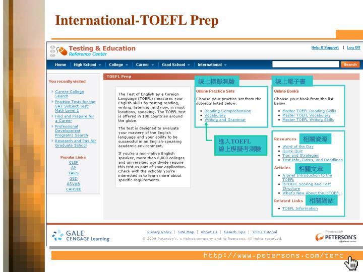 International-TOEFL Prep