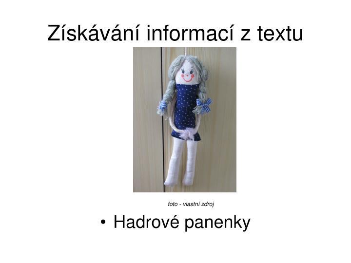 Získávání informací z textu