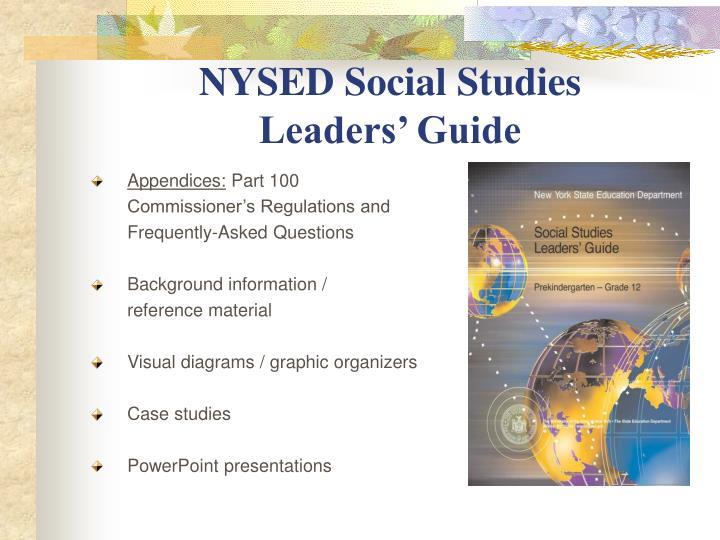 NYSED Social Studies