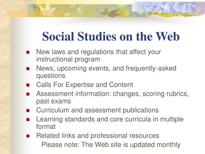 Social Studies on the Web