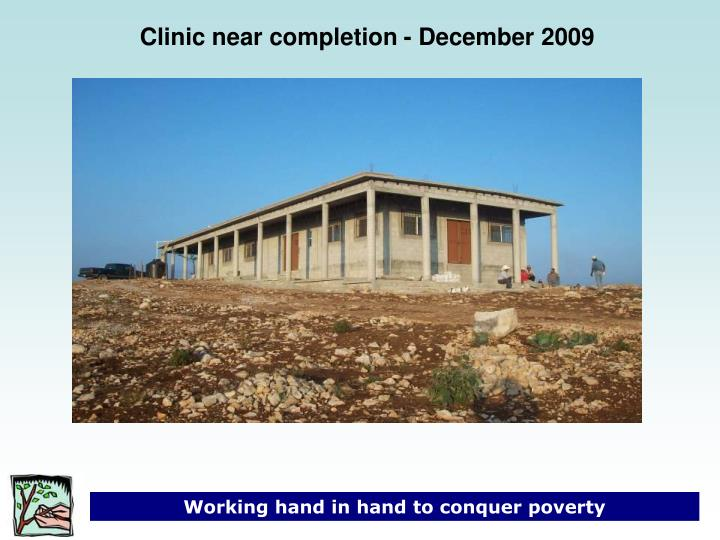 Clinic near completion - December 2009