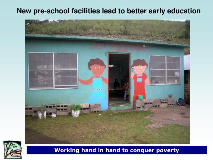 New pre-school facilities lead to better early education