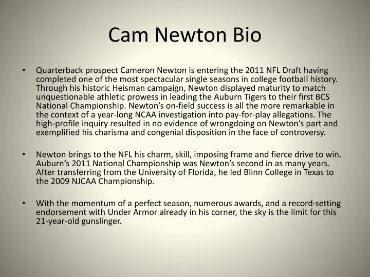 Cam Newton Bio