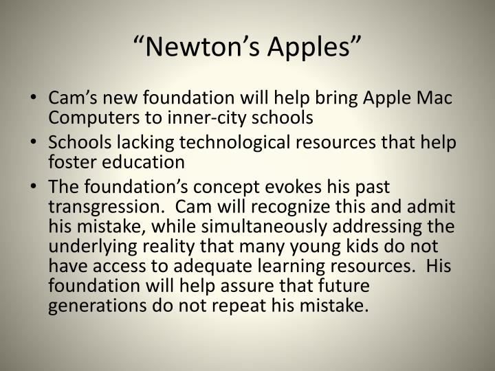 """Newton's Apples"""