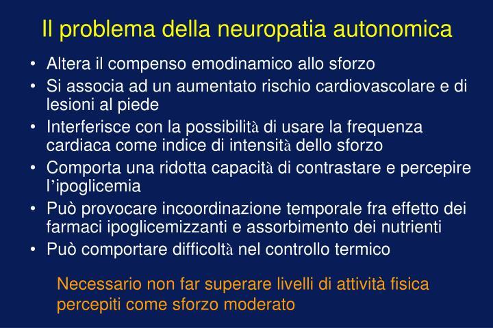 Il problema della neuropatia autonomica