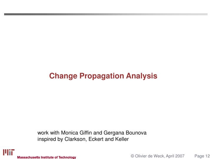 Change Propagation Analysis
