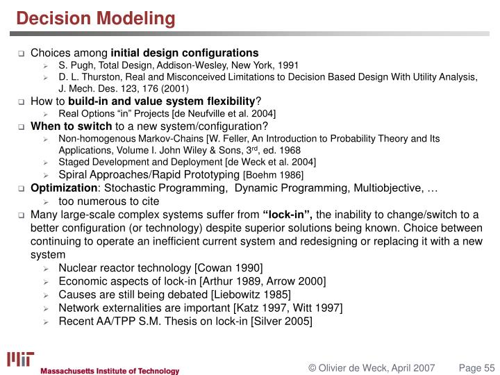 Decision Modeling