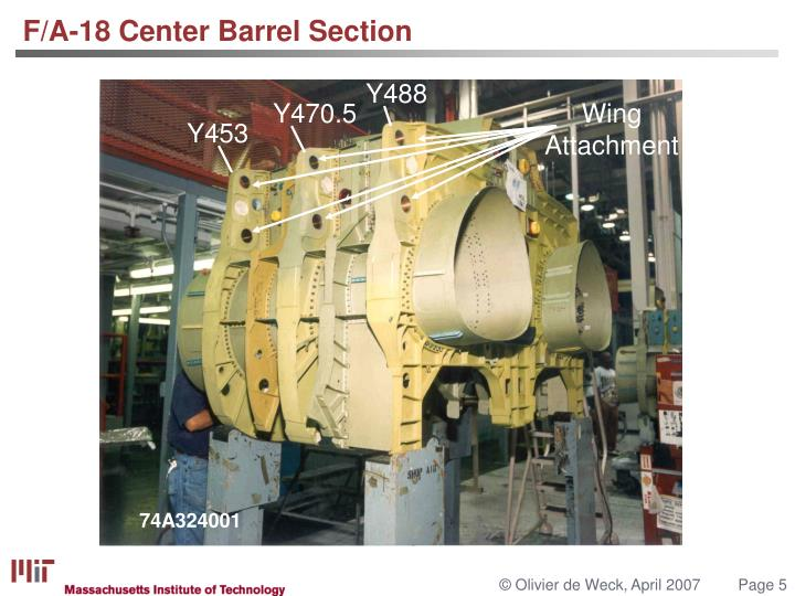 F/A-18 Center Barrel Section