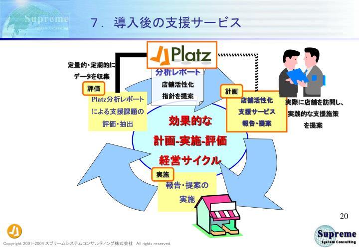 7.導入後の支援サービス