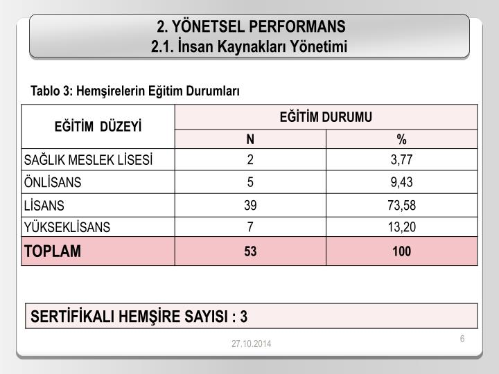 2. YÖNETSEL PERFORMANS
