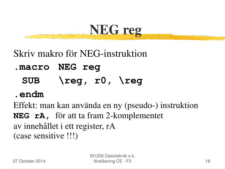 NEG reg
