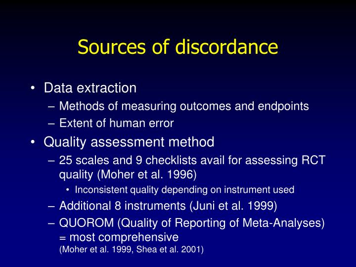 Sources of discordance
