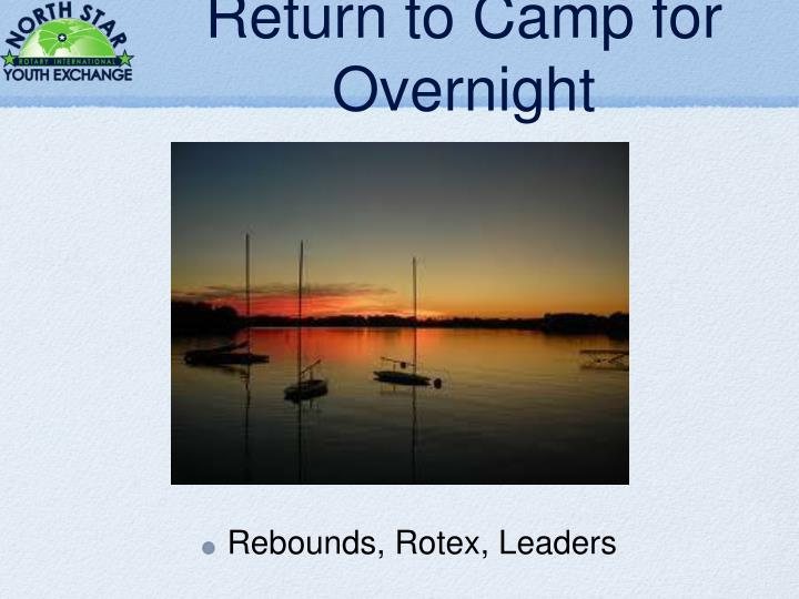 Return to Camp for