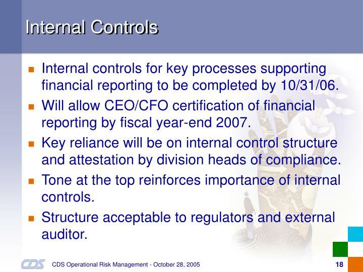 Internal Controls