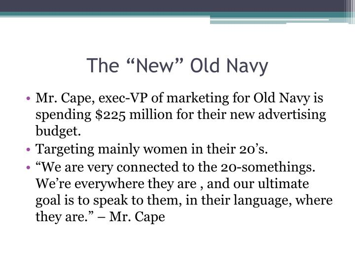 "The ""New"" Old Navy"