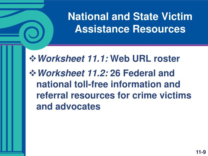 National and State Victim Assistance Resources