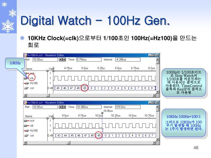 Digital Watch - 100Hz Gen.