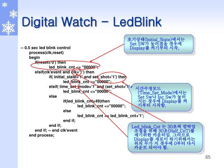 Digital Watch - LedBlink