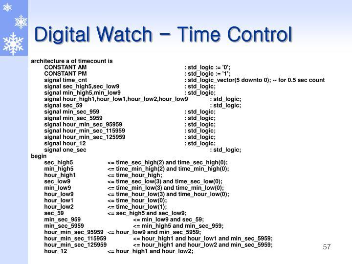 Digital Watch - Time Control
