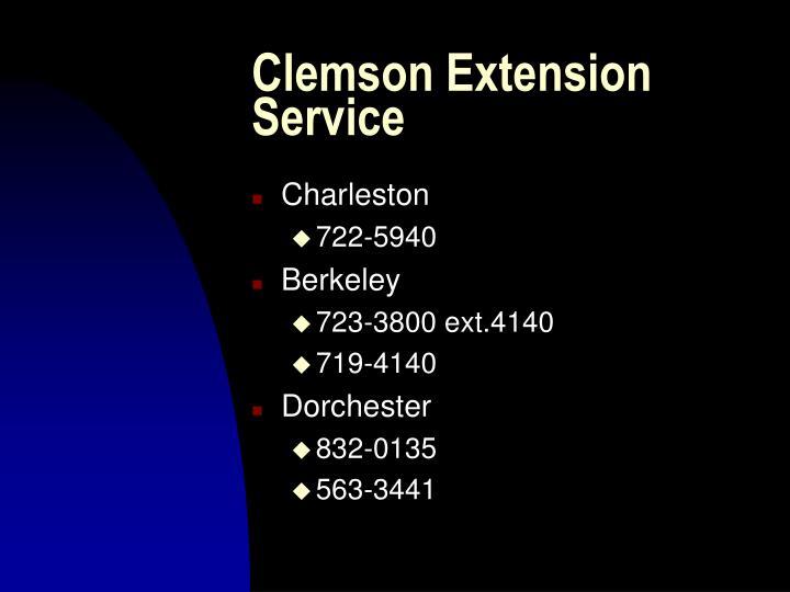 Clemson Extension Service