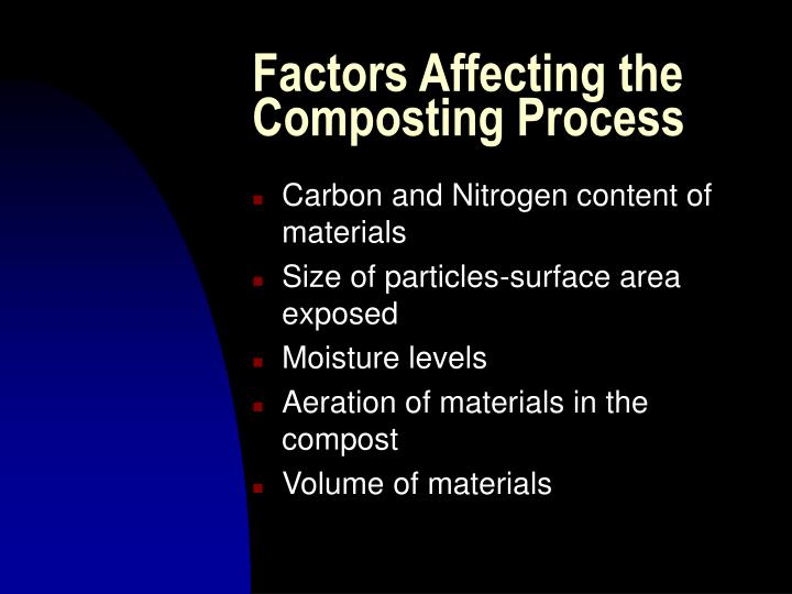 Factors Affecting the Composting Process