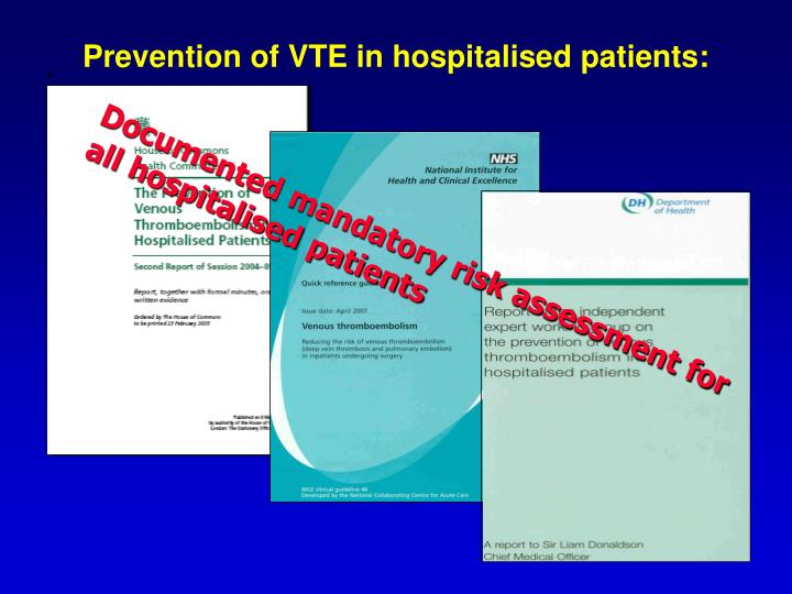Prevention of VTE in hospitalised patients: