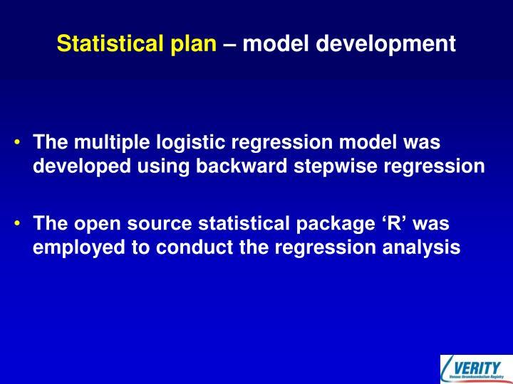 Statistical plan