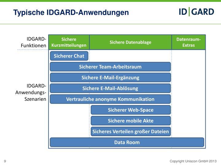 Typische IDGARD-Anwendungen