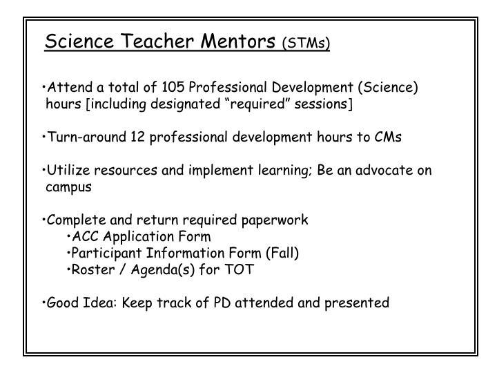 Science Teacher Mentors