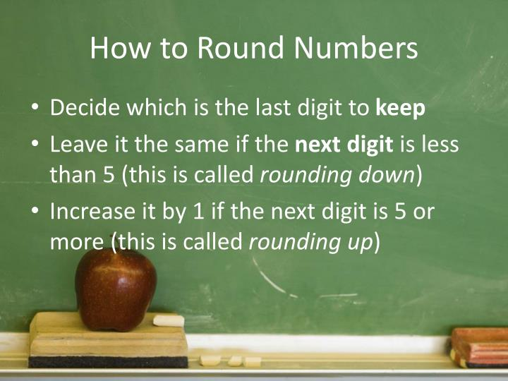 How to Round Numbers