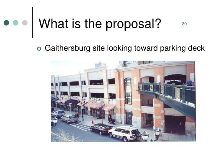 What is the proposal?